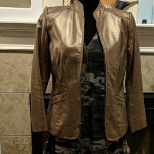 Vintage gold / bronze leather jacket.